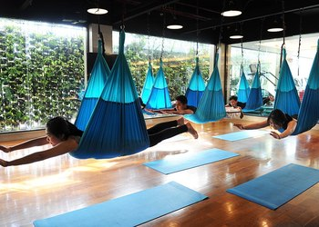 Power Swing Yoga: Aerial Workout at Klub & Spa Borobudur